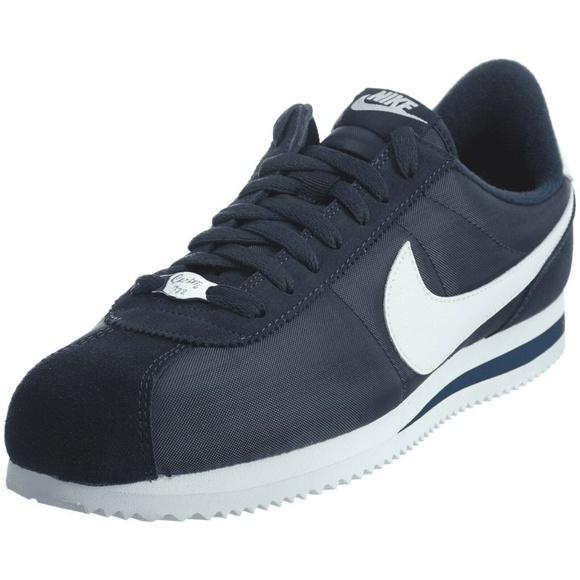 NIB Mens Nike Cortez Basic Nylon Blue Navy NWT